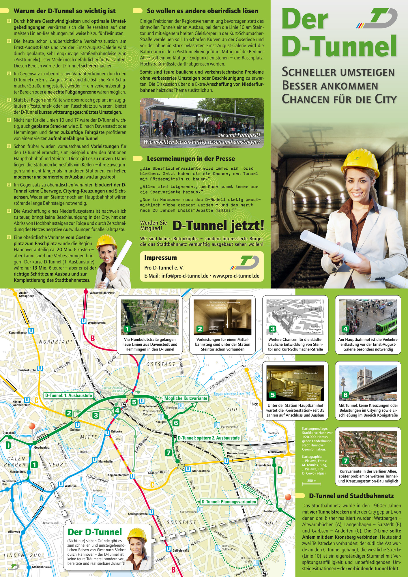 Info-Flyer Initiative Pro D-Tunnel e. V. (2011)